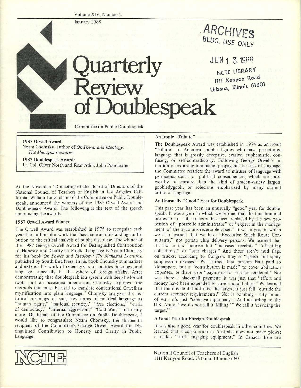 "william lutz doublespeak essay Doublespeak and real world examples summary in the essay ""the world of doublespeak,"" william lutz reveals the facts and dangers of doublespeak language which is."