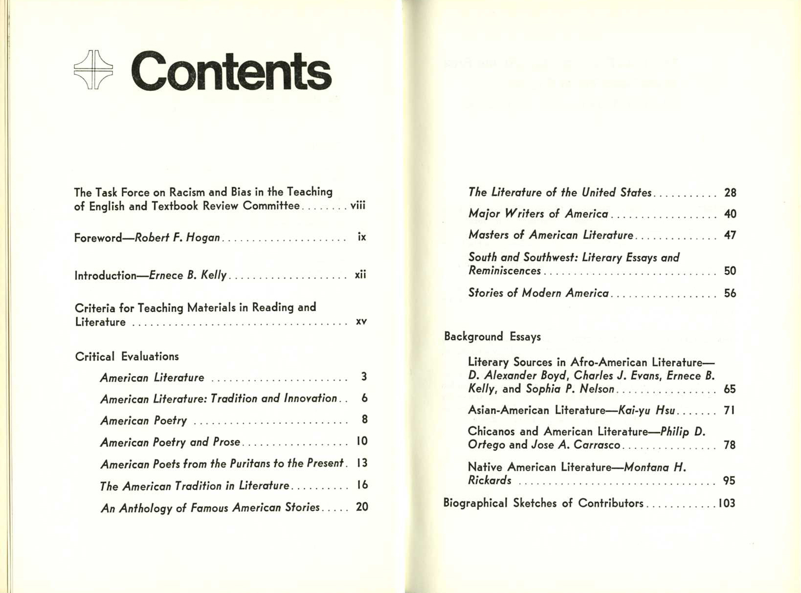 National council of teachers of english archives at the for 101 great american poems table of contents