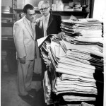 David Hoover and Librarian Icko Iben, June 19, 1958