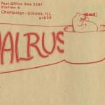 Walrus masthead, October 13, 1972