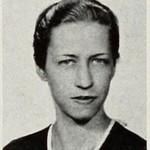A photo of Virginia Irene Miller, from the 1936 Illio. Record Series 41/8/805.