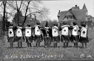 Alpha Xi Delta Stunt Show performers, 1910