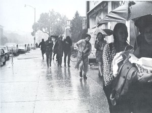 Registration Day and, later, New Student Week, hasn't always had the best weather