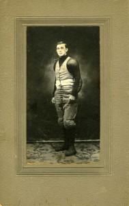 Robert in his football uniform as an undergraduate student.