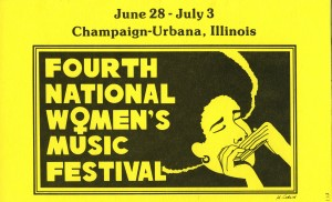 National Women's Music Festival program