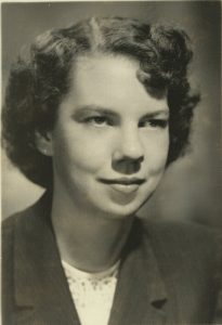 Miriam Backs in 1950