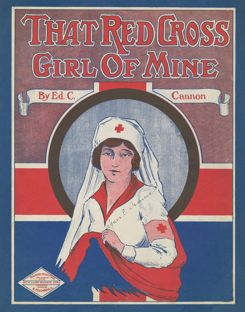 """That Red Cross Girl of Mine"" from the James Edward Myers Sheet Music Collection"