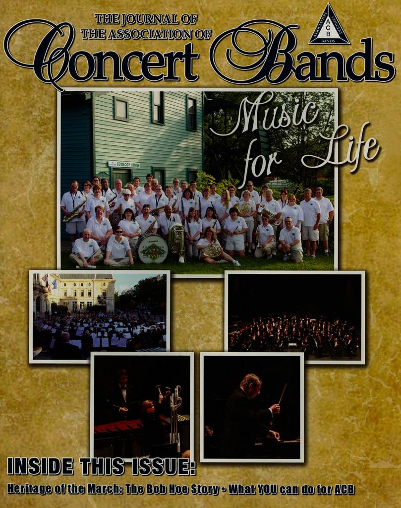 Association of Concert Bands Journal Cover, Vol 33, No. 3. October 2014