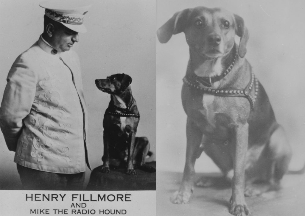 "Henry Fillmore and Mike ""the Radio Hound"" Promotional Photographs, ca. 1930."