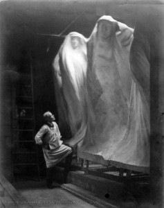 Lorado Taft in Studio