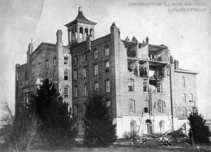 Old University Building, April 19, 1880