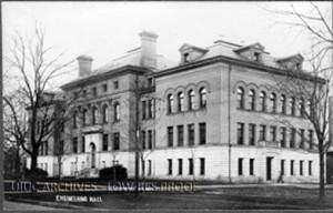 Photo of Engineering Hall (ca. 1910). Found in Record Series 39/2/24.