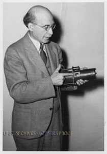 Photo of Joseph Tykociner (ca. 1939). Found in Record Series 11/6/20.