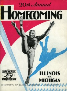 Football program cover, 1929.  Found in Record Series 28/5/811