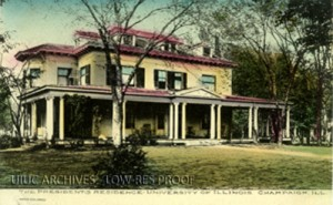 Postcard of the President's residence, the old Health Services Station, circa 1930