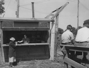 Roadside Market, McLean County, Illinois, 1936