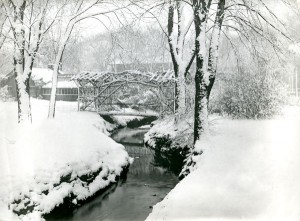 Rustic Bridge over the Boneyard Creek circa 1914, Record Series 39/2/20.