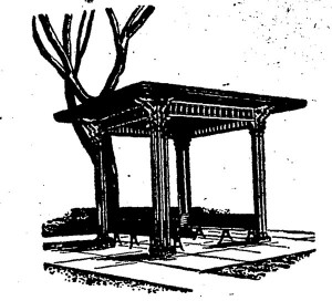 Halfway House illustration used in the Daily Illini in the 1960s.
