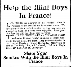 Daily Illini Advertisement, spring, 1918
