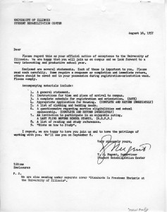 Orientation Packet for New Students, August 16, 1957