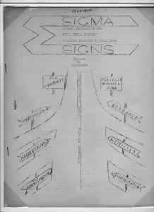 Sigma Signs, 1959