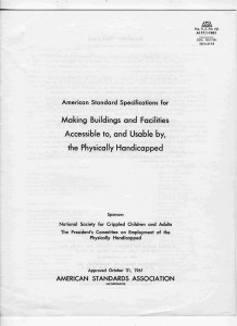 Architectural Accessibility Standards October 31, 1961