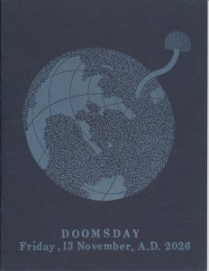 "Cover of ""Doomsday,"" found in record series 11/6/26, box 63."